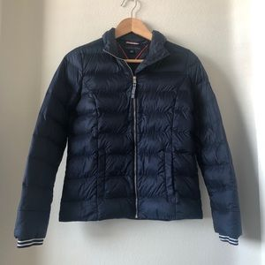 Tommy Hilfiger quilted puffer jacket navy blue xs